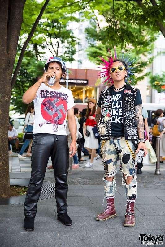 Модные персонажи на улицах Токио (25.07.17)