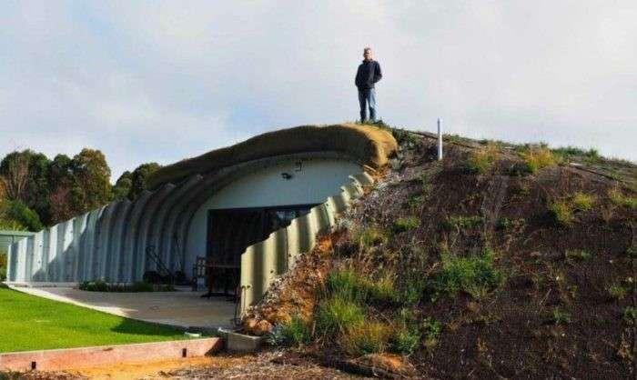 Подземный дом, не требующий ни охлаждения, ни подогреваЗапись входит в топ 200 рейтинга