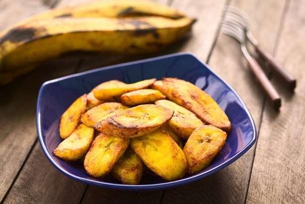 Жареные бананы плантайны