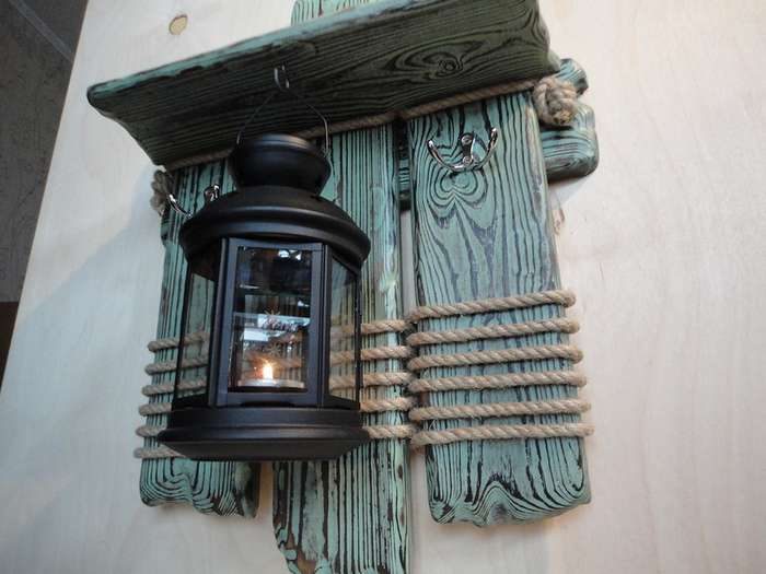 Декоративный подсвечник в морском стиле