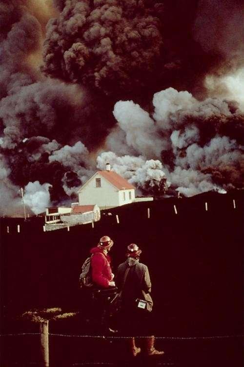 Извержение вулкана Эльдфедль, январь 1973 года, Исландия