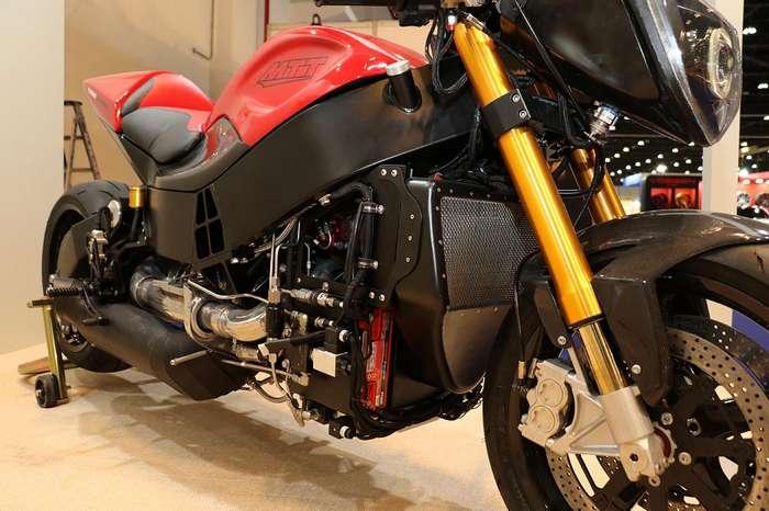 Мотоцикл... с газотурбинным двигателем от вертолёта