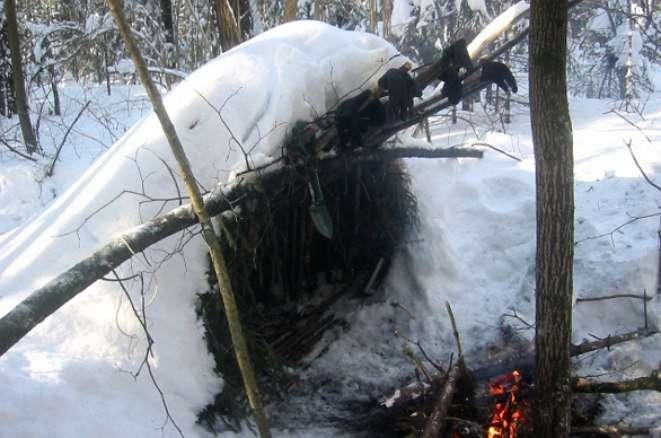 Правила для выживания зимой в лесу