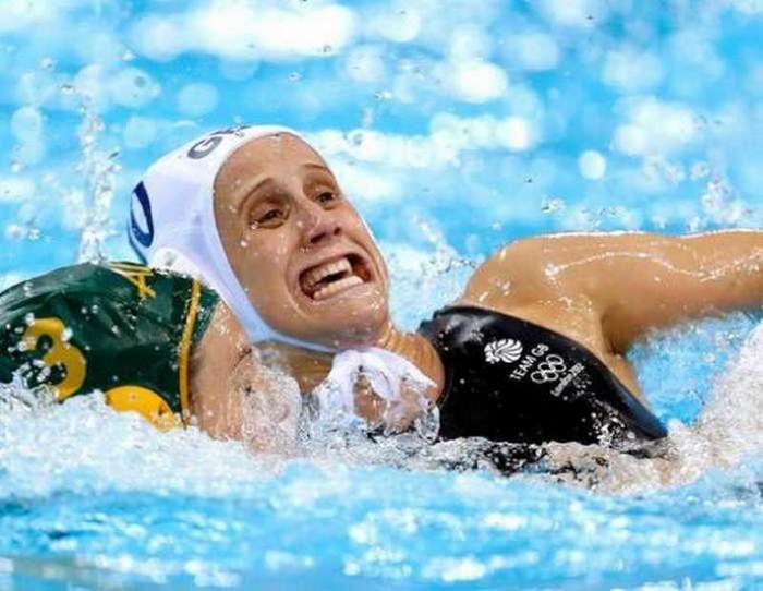 Смешные фото спортсменов во время ответственных моментов