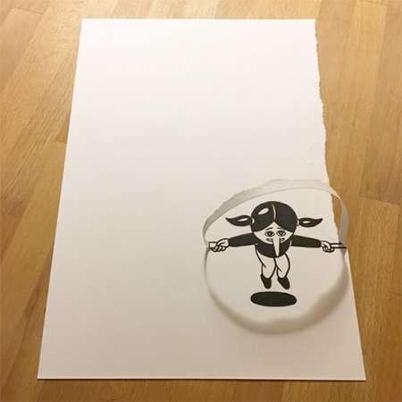 Креативные рисунки датского художника HuskMitNavn (18 фото)