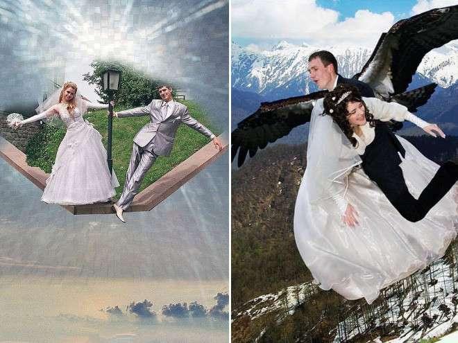 Свадебные фотографии после фотошопа