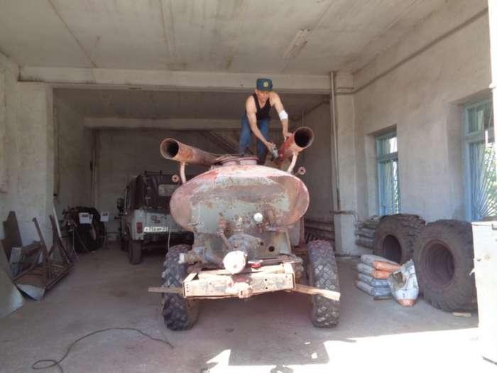 В Чувашии восстановили старую пожарную машину АЦУ-20