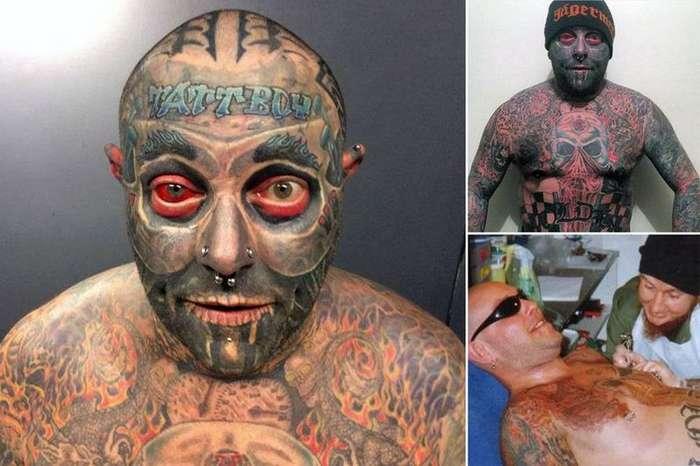 Потратил $100 000, чтобы покрыть 90% тела татуировками