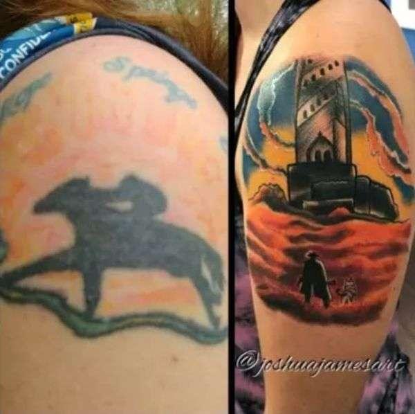 Исправление старых татуировок.
