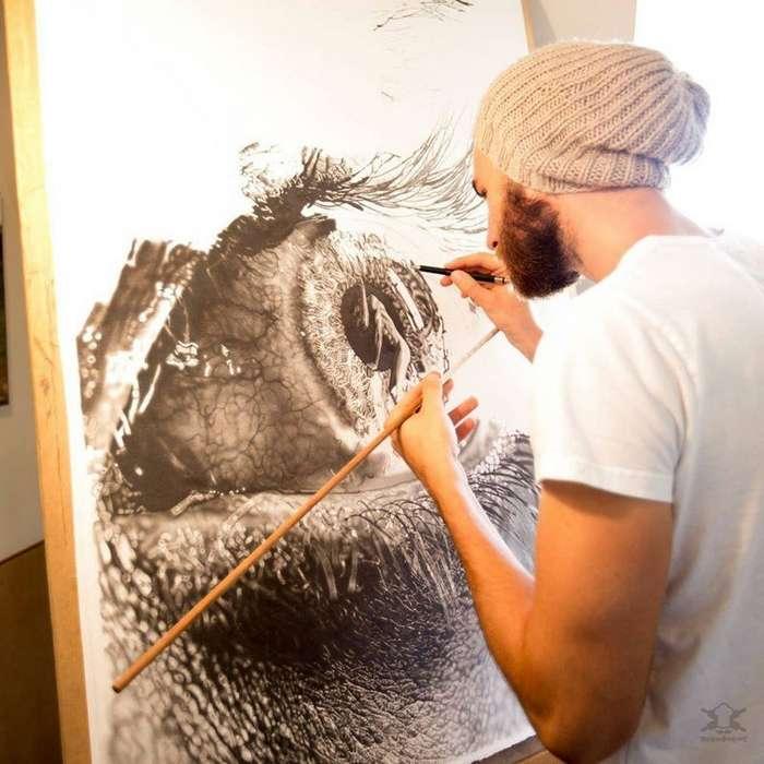 Фотореалистичные рисунки, которые создаёт художник Йоно Драй