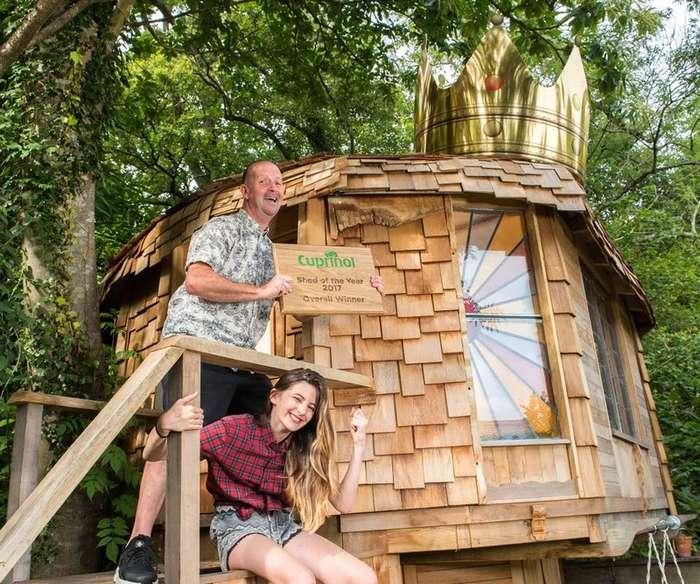 Ради дочки отец превратил старый сарай в нечто волшебное