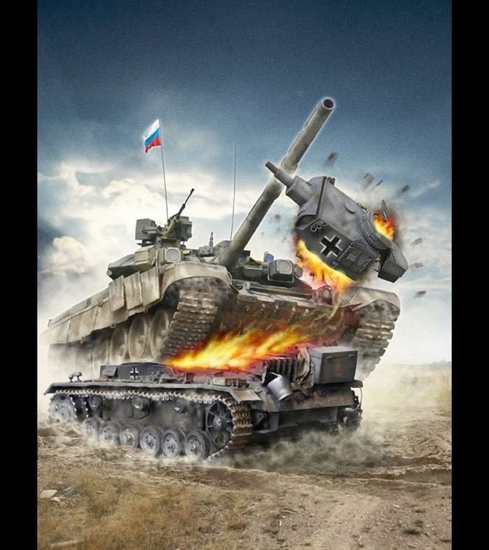 Шикарный военный арт