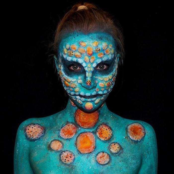 Жуткий боди-арт: шокирующее хобби 16-летней девушки