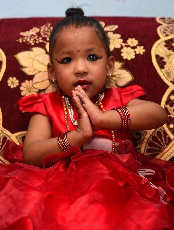 Трехлетняя богиня из Катманду