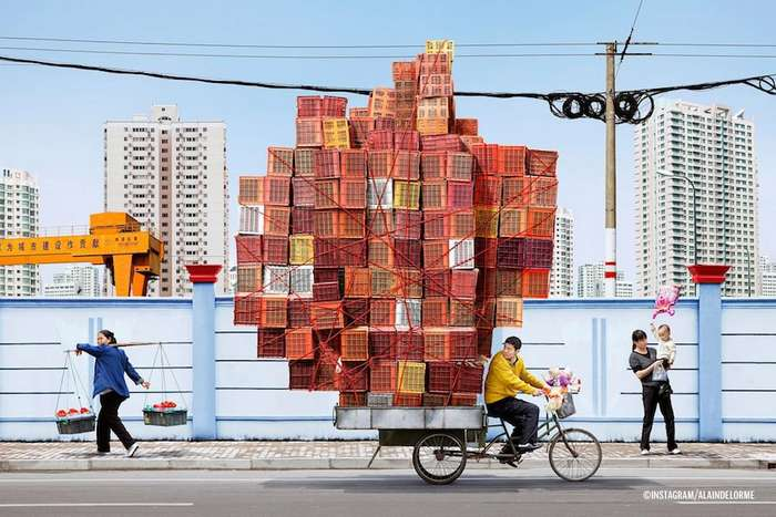 Портреты жителей Шанхая, перевозящих тяжести