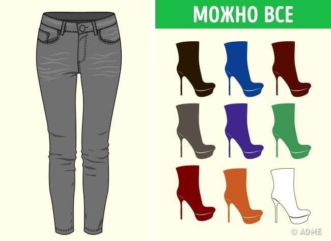 Как сочетать цветные брюки с цветной обувью