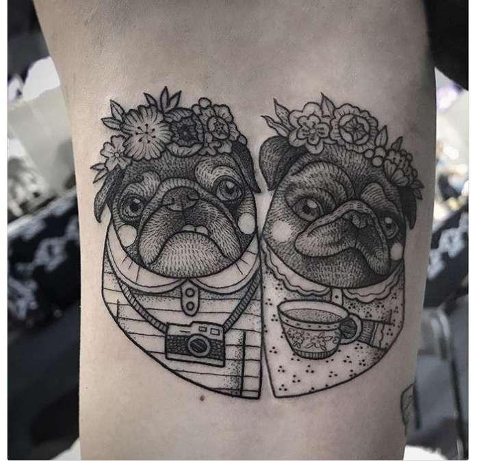 Черно - белые татуировки Сюзанны Кениг