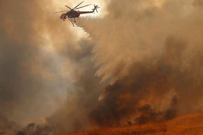 Сгоревший город в Калифорнии