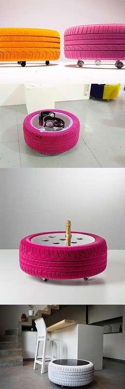 Оказывается, из старых шин можно сделать такое. Просто невероятно!
