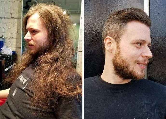 А вы бы узнали этих мужчин после стрижки?