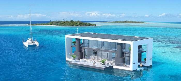 Роскошное убежище на случай апокалипсиса: автономный плавающий дом