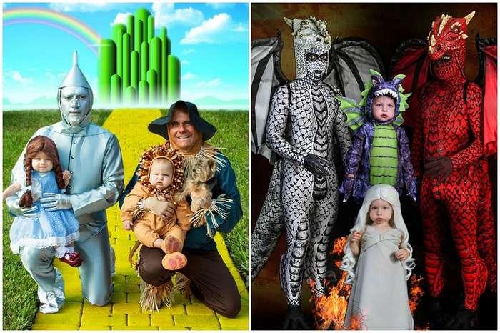 Вот это костюмы: двое пап устраивают своим двойняшкам потрясающий Хэллоуин