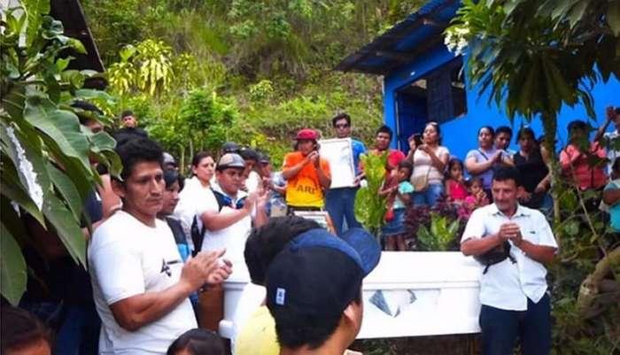 Перуанец начал дышать на собственных похоронах