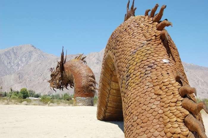 Скульптуры в пустыне Анза Боррего (Калифорния)