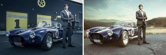 Снимки -до и после-, демонстрирующие, как обычные фотографии превращаются в фантастические миры