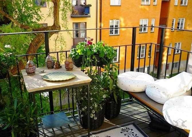 Самые красивые маленькие балконы
