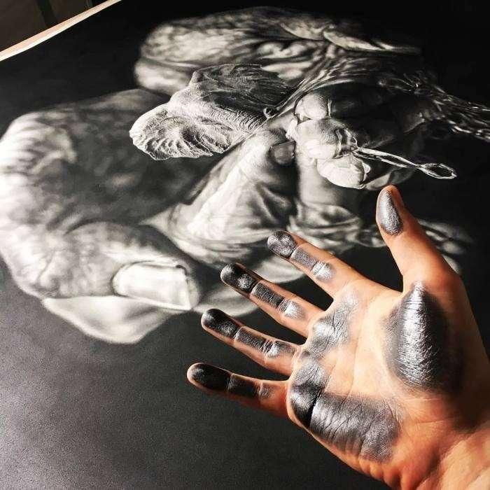 Художник-самоучка создает фотореалистичные рисунки простым карандашом