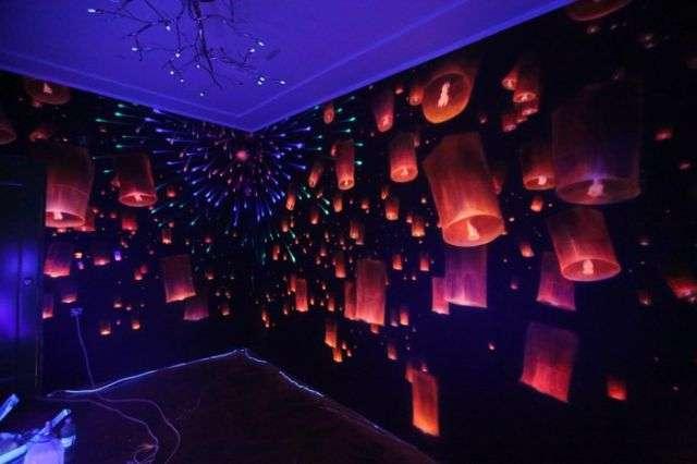 Фантастическое оформление стен комнаты