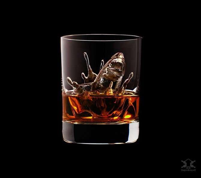 Потрясающие фигурки льда для виски