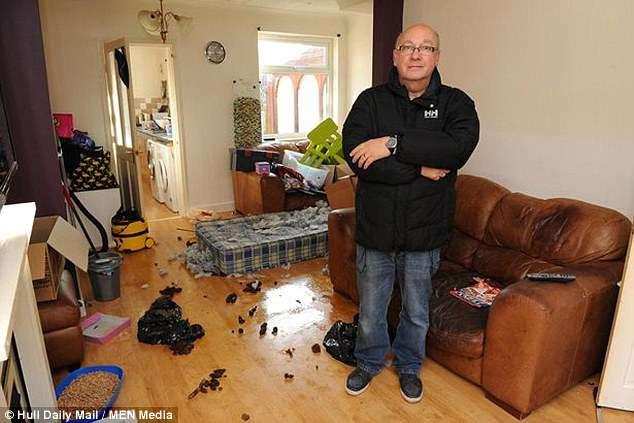Арендаторы сбежали из съемного дома, оставив после себя грязь, долги и несчастную собаку