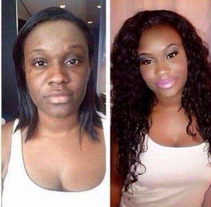 Из простушки в королевы: 18 фотографий женщин до и после макияжа.