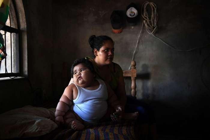 Мексиканский -малыш- в десять месяцев весит 28 кг