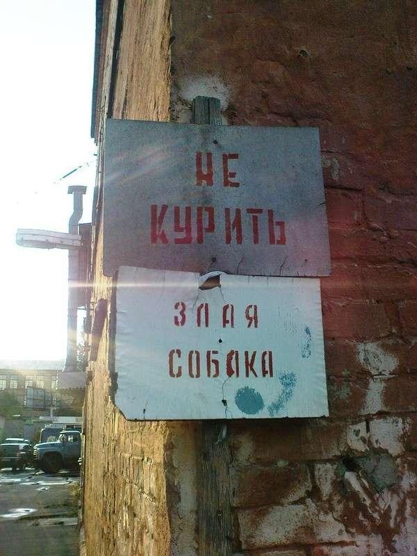 Буйство запретов: подборка запрещающих надписей и знаков