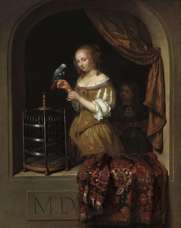 Любовь к попугаю - попугаи в золотой век голландской живописи