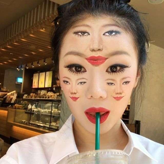 Оптические иллюзии от корейского визажиста Дайн Юн