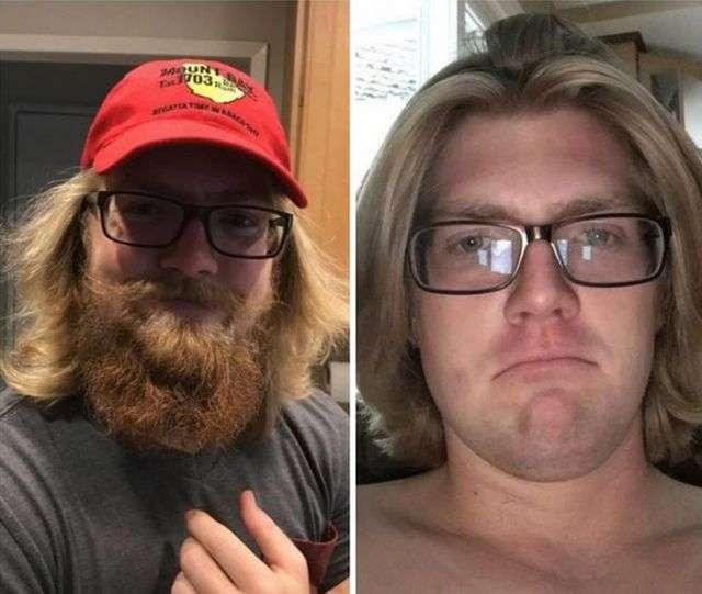 Мужчины с бородой и без