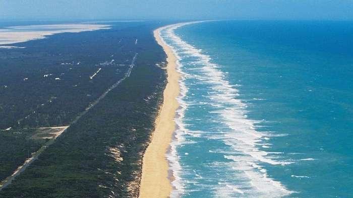 Австралийский пляж длиной 151 километр
