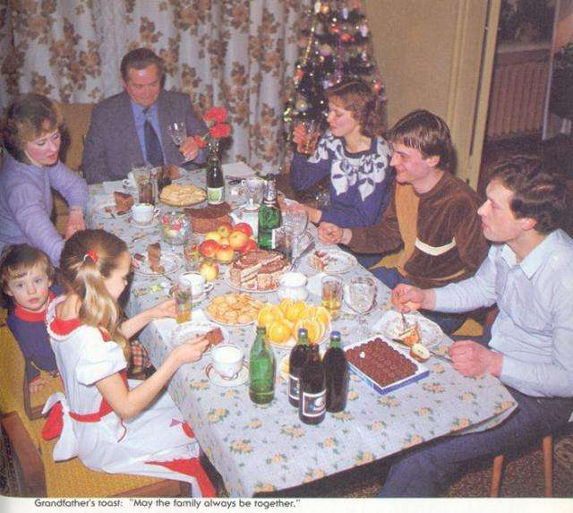 Новогодний стол в СССР