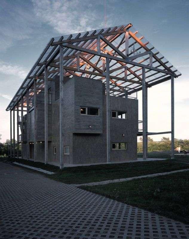 Дом с наружным каркасом в Калужской области
