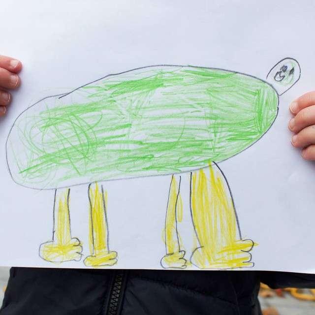 28 рисунков сына, которые любящий папа решил немного оживить