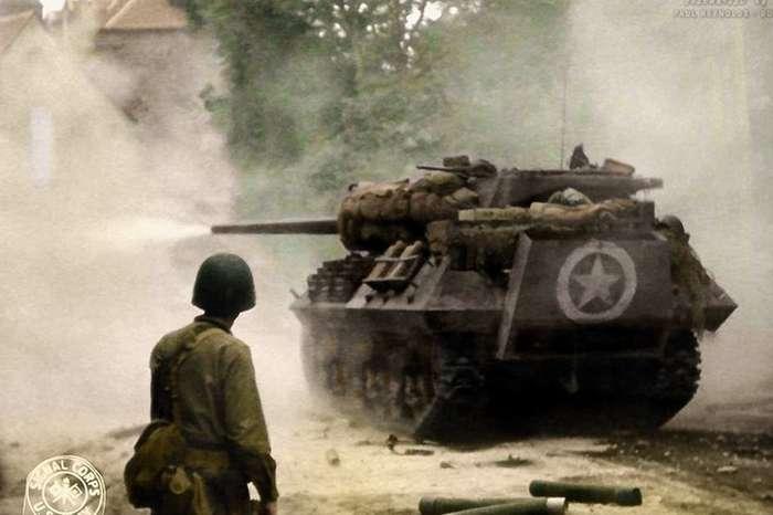 Боевые машины Второй мировой войны: фотографии танков союзников и нацистов в цвете