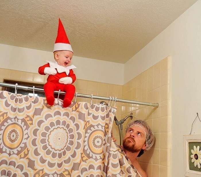 Отец устроил 4-месячному сыну фотосессию в образе эльфа