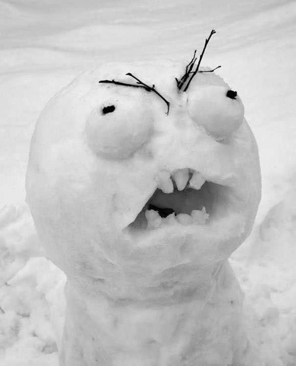 20 креативных снеговиков, которых невозможно развидеть