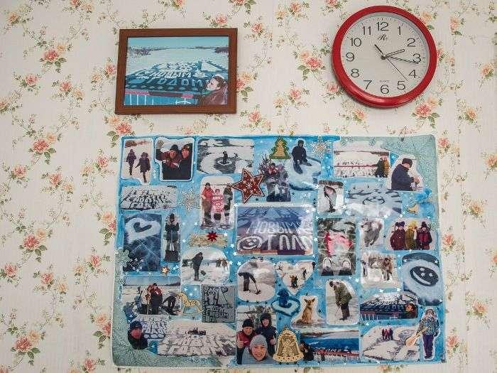 Потрясающие новогодние открытки на льду от амурского пенсионера