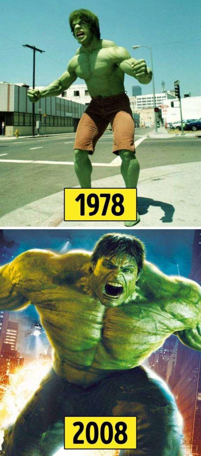 Популярные киноперсонажи тогда и сейчас