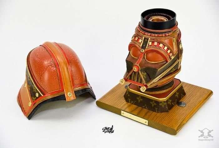 Персонажи -Звёздных войн- из старых сумок Louis Vuitton